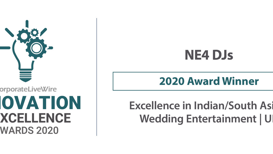 NE4 DJS - WINNERS COPORATE LIVEWIRE INNOVATION & EXCELLENCE AWARDS 2020