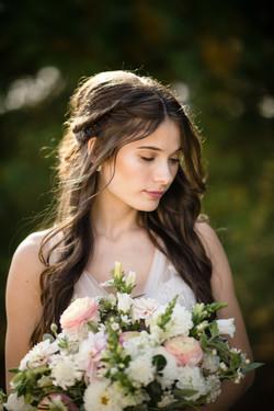 Brunette Half Up Half Down Wedding Hair