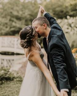Boho braid bride upstyle