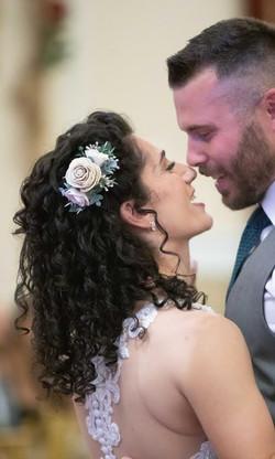 Natural Curls Wedding Hair