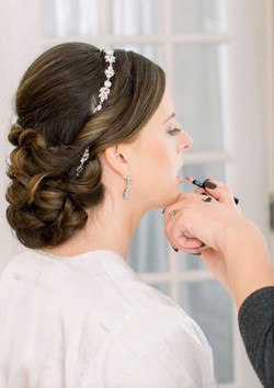 Twisted Updo for Bride