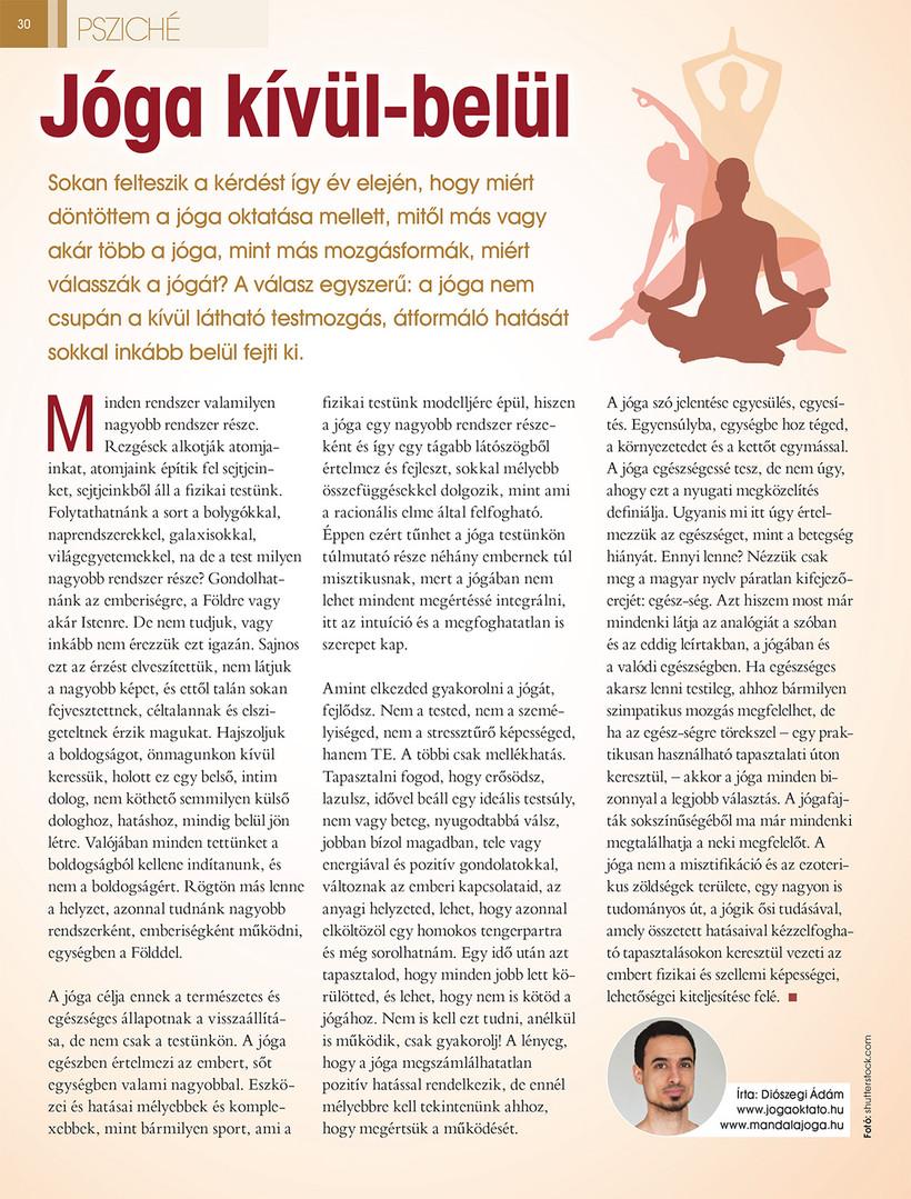 Jóga cikk: Jóga kívül-belül