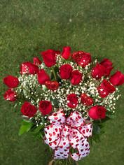 Two Dozen Roses Vased