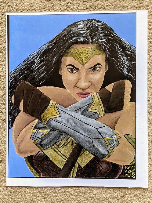 Wonder Woman Painting 1:1 Reprint POSTER