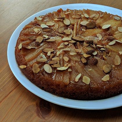 HONEY APPLE ALMOND CAKE