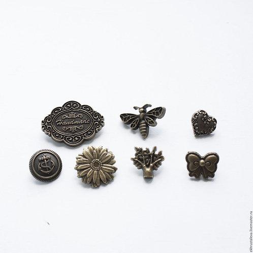 Кнопки фигурные, 12,5 мм