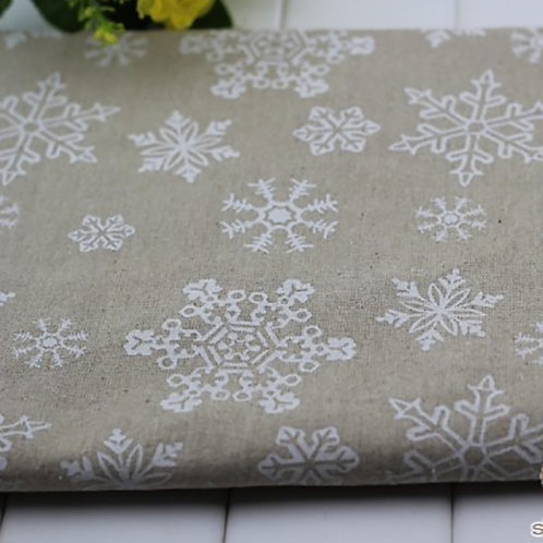 Новогодний лен Снежинки