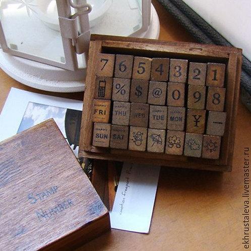 Набор штампов Цифры, символы