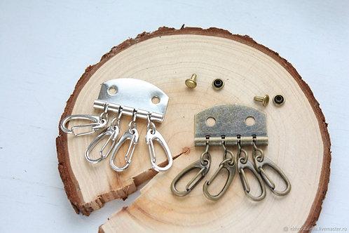 Заготовка для ключницы с 4 карабинами