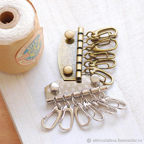 Заготовка для ключницы с 6 карабинами