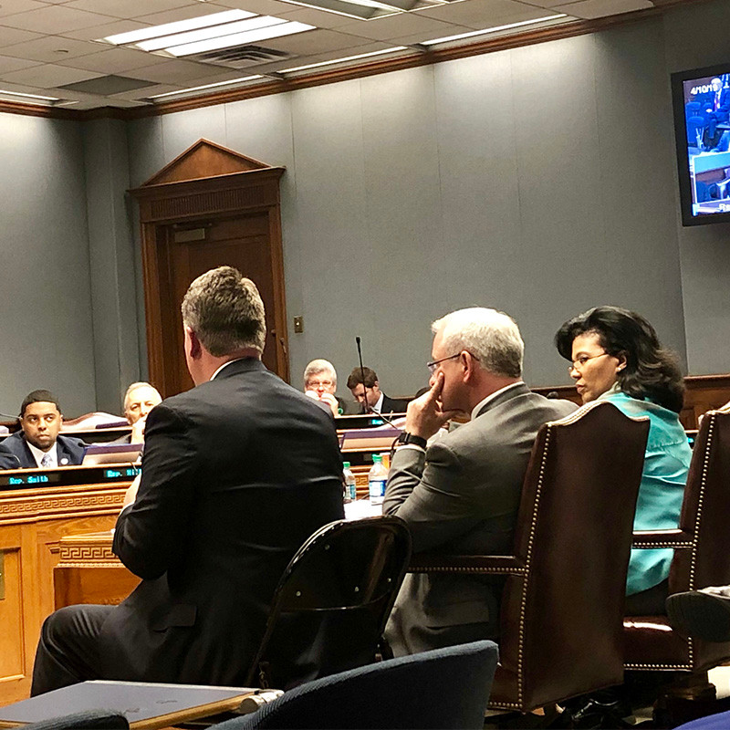 Higher education officials address House committee.