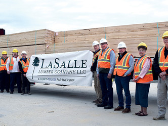 First load leaves LaSalle Lumber Co.