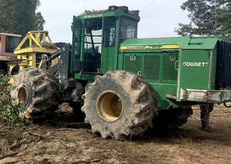 Logging equipment damaged in Winn