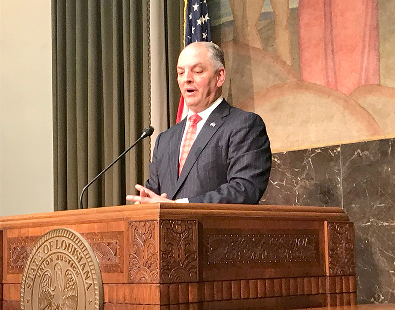 Gov. John Bel Edwards said the state is in a good financial position after the budget crises of the past. (Photo by Catherine Hunt / LSU Manship School News Service)