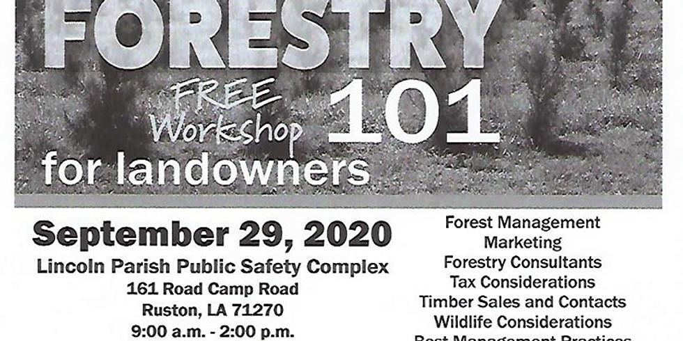 Forestry 101 workshop for landowners