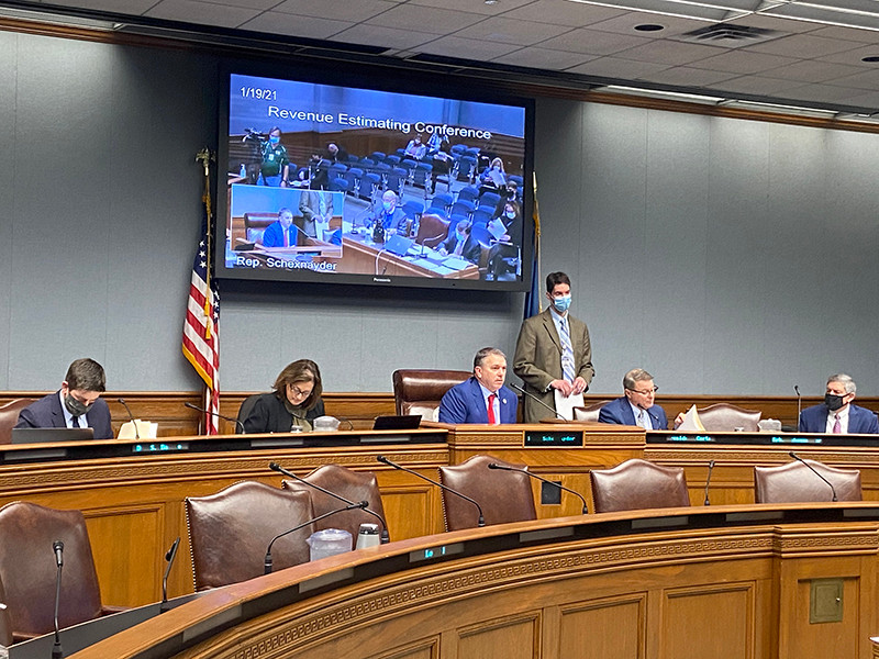 State leaders adopted a revenue forecast Tuesday to help estimate how much money will be available for next year's state budget. Photo by Sarah Procopio/LSU Manship School News Service
