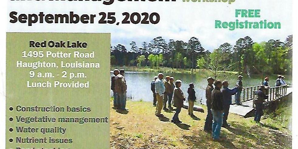Farm Pond Construction and Mgt workshop