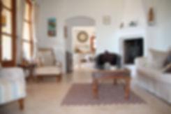 villa lounge and kitchen