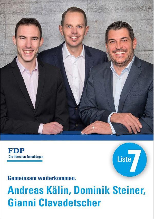 FDP Liste 7 Landratskandidaten Ennetbürgen