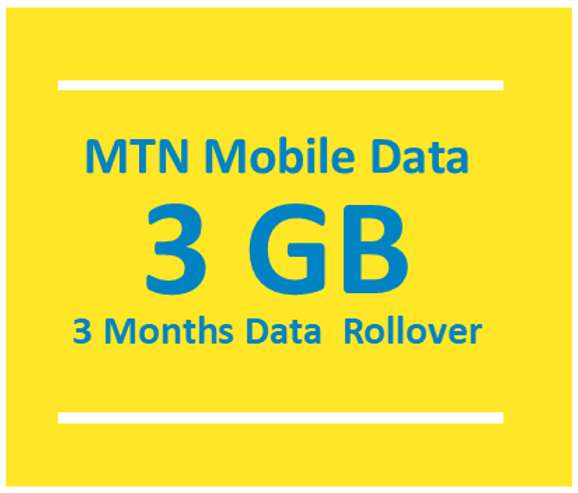 3GB MTN Mobile Data with 3G & 4G SIM card