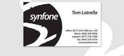Single Sided Business Card