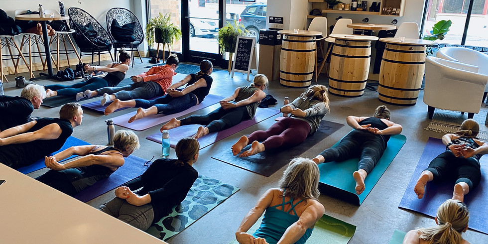 Wine & Shine Yoga! // 10-11:30am