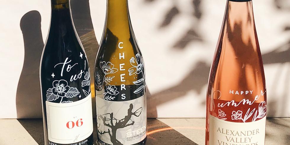 Custom Bottle Design // The Vine Shop Grand Opening