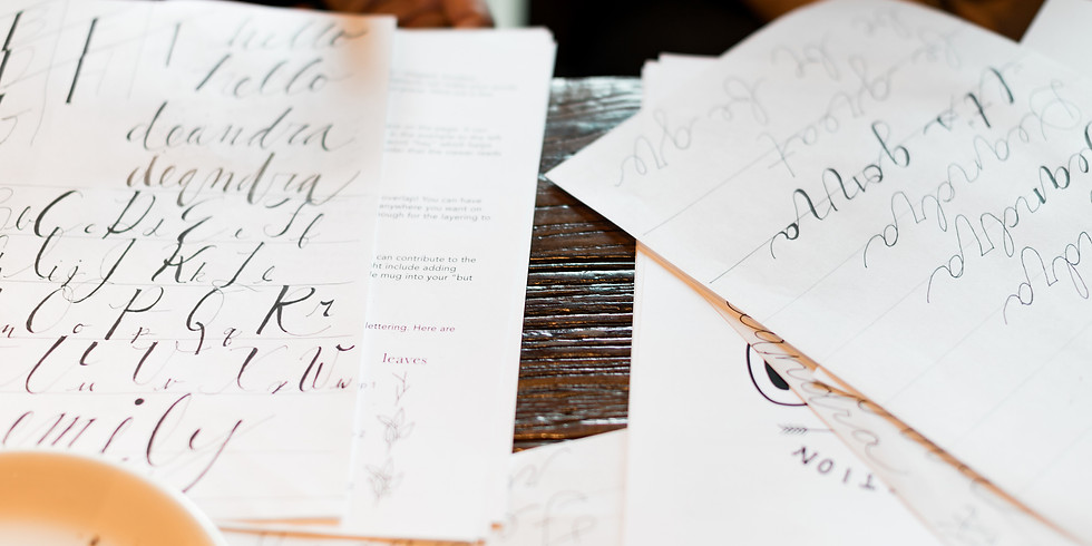 Intro to Hand Lettering Class! // 11am-1pm
