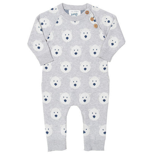 Snow Bear Knit Romper