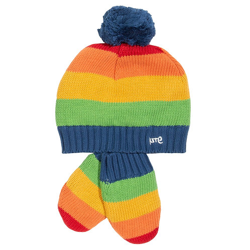 Rainbow Hat and Mitts