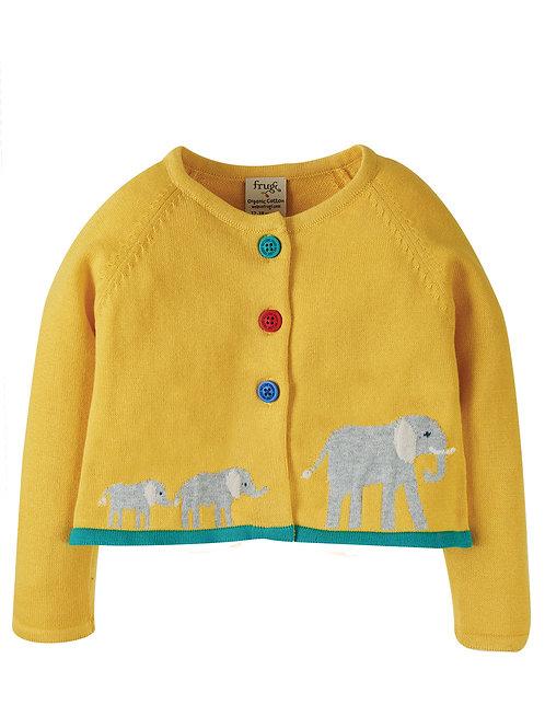 Little Annie Applique Cardigan Elephant