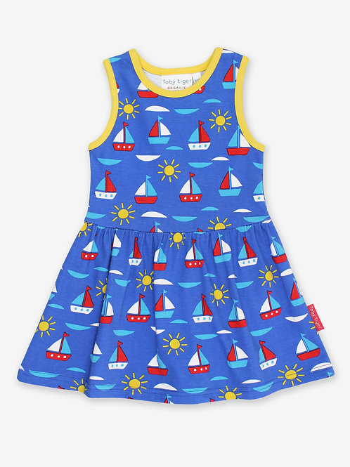 Boat Print Summer Dress