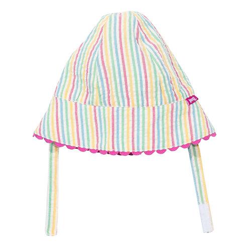Seersucker Sun Hat