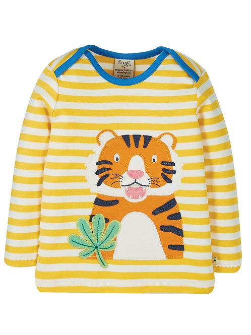 Bobby Applique Top Stripe Tiger