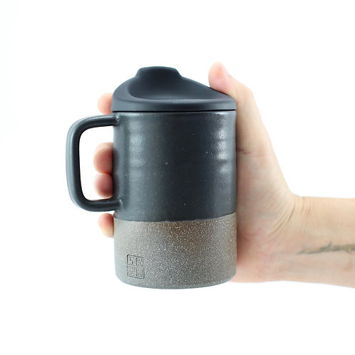 ZUKO Mug (Large: 12oz) - Charcoal Black