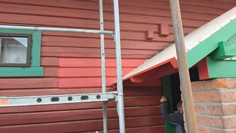 Rekonstrukce části stěny na roubence