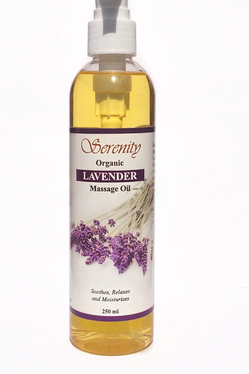 Serenity Organic Lavender Massage Oil 8 oz