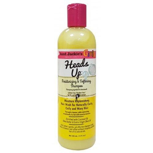 Aunt Jackie's Girls – Heads Up – Moisturizing & Softening Shampoo 12 oz