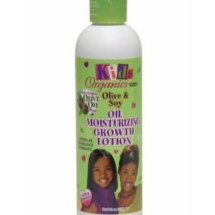 KIDS ORGANICS OLIVE & SOY MOISTURIZING GROWTH LOTION 8 OZ