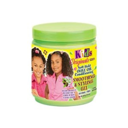 KIDS ORIGINALS – SOFT HOLD OLIVE OIL CONDITIONING SMOOTH STYLE GEL 15 oz