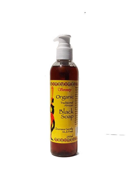 Serenity Organic Liquid  Black Soap  8 oz