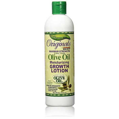 Africa's Best Originals Max Strength Olive Oil Moisturizing Grow Lotion 12 oz