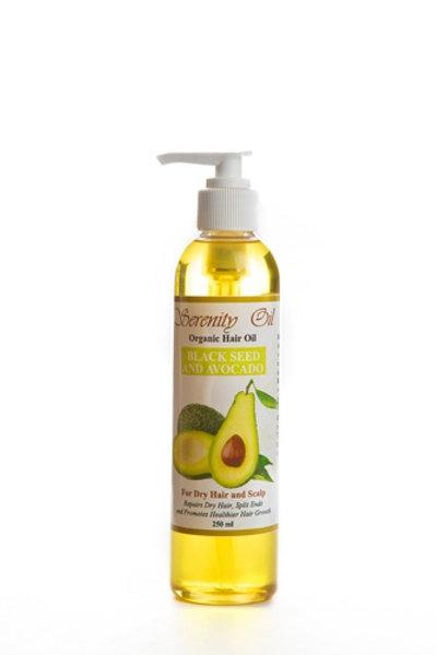 Serenity Organic Oil Black Seed and Avocado 8 oz