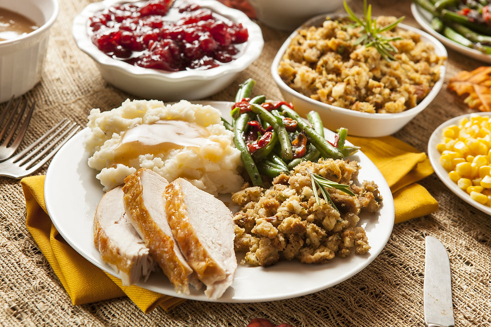 Homemade Turkey Thanksgiving Dinner with