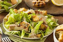 Healthy Grilled Chicken Caesar Salad wit