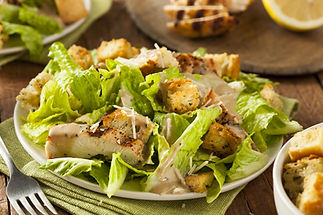 Healthy Grilled Chicken Caesar Salad wit