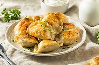 Homemade Fried Polish Potato Pierogis wi