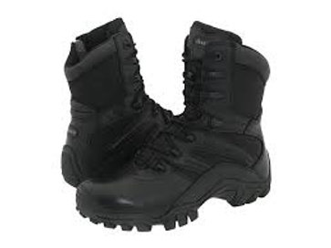 "Men's Bates 8"" Side Zip Safety Toe Boots 8-13"