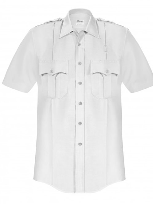 Men's Elbeco Short Sleeve White Shirt (LONG BODY)
