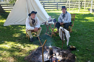 Gathering at the camfire before the Revolutionary War